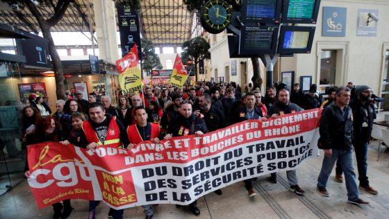 França – Os trabalhadores ferroviários em luta para a defesa do serviço público