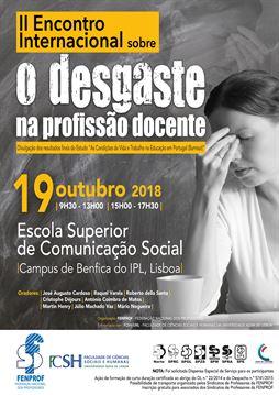 O Desgaste na profissão docente-IIº encontro internacional