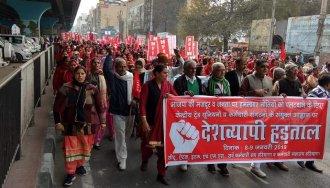 Greve geral de dois dia na India mobiliza milhões de trabalhadores