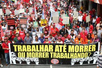 Trabalhadores brasileiros contra Reforma da Previdência de jair bolsonaro