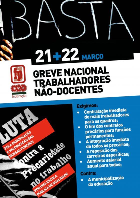 Trabalhadores e trabalhadoras das escolas em greve nacional