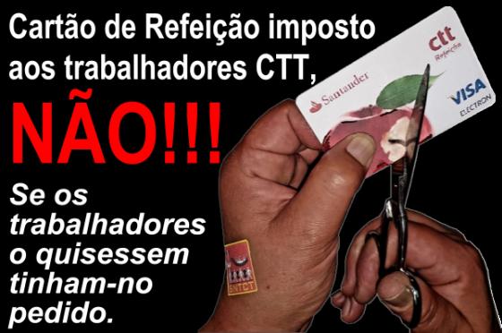 Greve nos CTT:empresa quer substituir subsídio de refeição por cartão