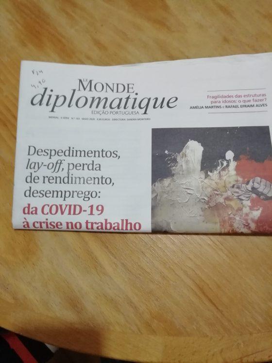Leituras em tempo de pandemia:a edição portuguesa do «Le Monde Diplomatique»