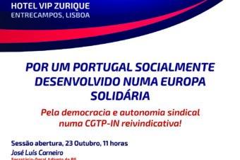 Sindicalistas socialistas da CGTP em Congresso